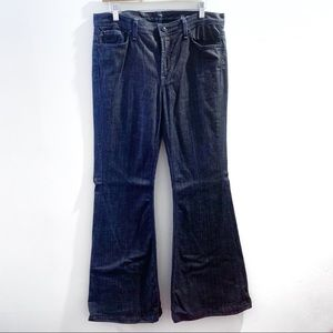7 For All Mankind Dark Wash Bellbottom Jeans